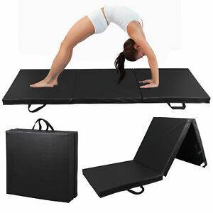 6-039-x2-039-Exercise-Non-Slip-Tri-Fold-PU-Leather-Gym-Mat-For-Gymnastics-Yoga-Workout