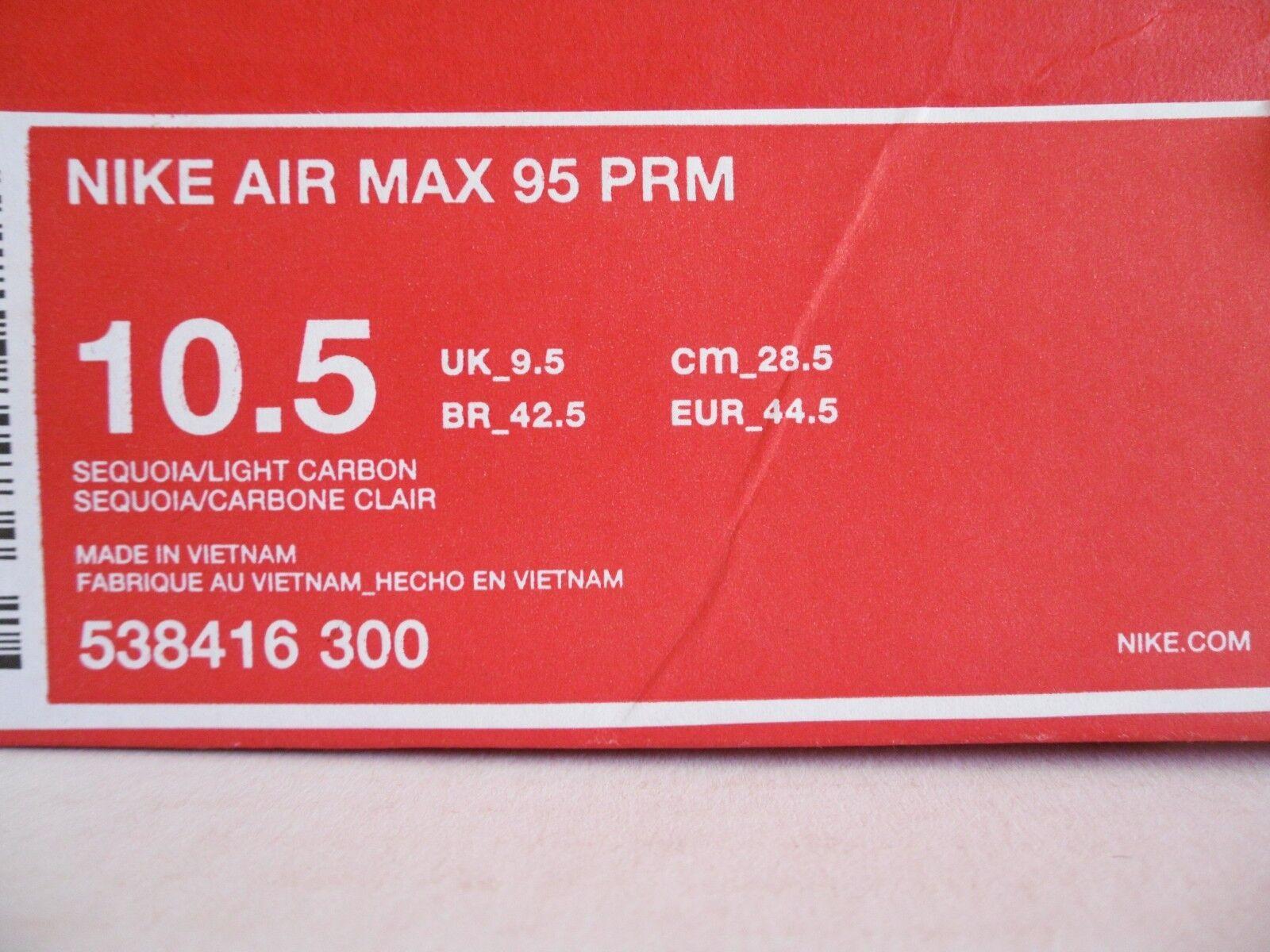 nike air max 95 premium prm 10,5 sequoia-light kohlenstoff