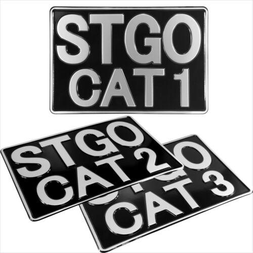 Carga anormal Stgo Cat 1 2 3 Camión Novedad presionado Placa de Metal 12x8 Negro Plata