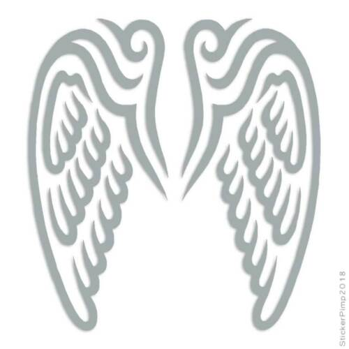 Size #2330 Wings Angel Decal Sticker Choose Color