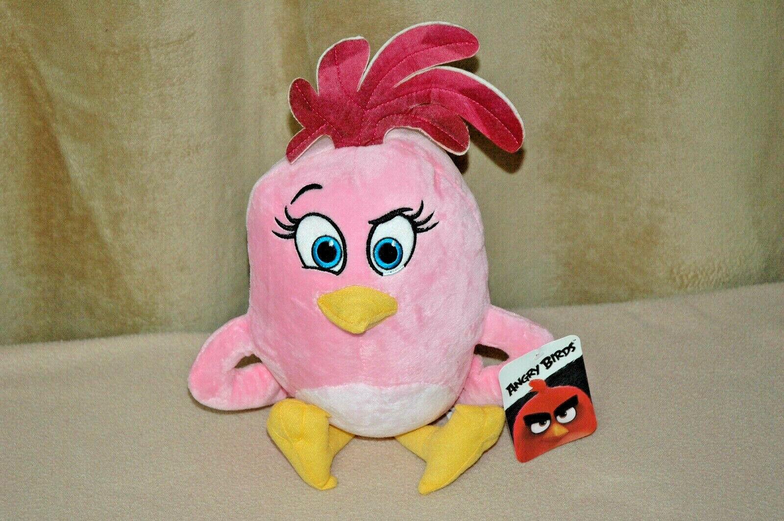"15"" Angry Birds Movie Girl Plush Pink Stella Stuffed Animal Plush Doll *NWT*2017"