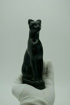 770: Baccarat Colored Crystal Black Cat Signed Baccarat