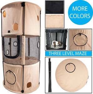 Pet-Life-Climbertree-Circular-Obstacle-Play-Active-Travel-Collapsible-Cat-House