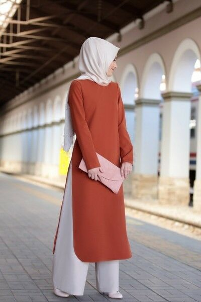 S-948 Tesettür Ikili Takim- Zweiteiliges Outfit-Tunika& Hose -Hijab