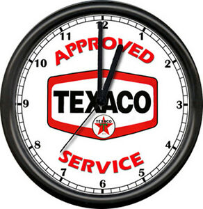 Texaco-Gas-Service-Station-Attendant-Logo-Pump-Sign-Wall-Clock
