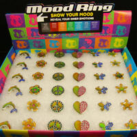 Mood Rings In 6 Hot Designs/6 Assorted Styles/ Crystal Stones/ Adjustable
