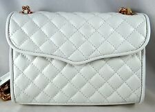 Rebecca Minkoff White Quilted Mini Affair Crossbody Shoulder Bag