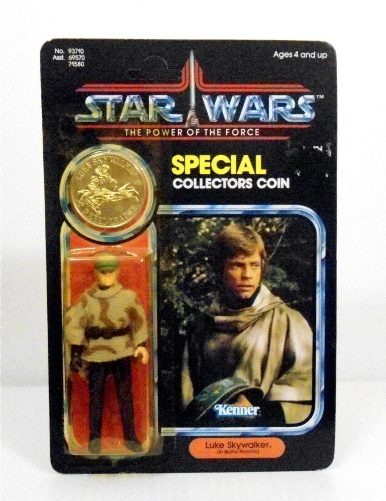 gran selección y entrega rápida Estrella wars poder de la fuerza Luke Skywalker moneda moneda moneda de plata en tarjeta ENLOMADOR 1984  mas preferencial