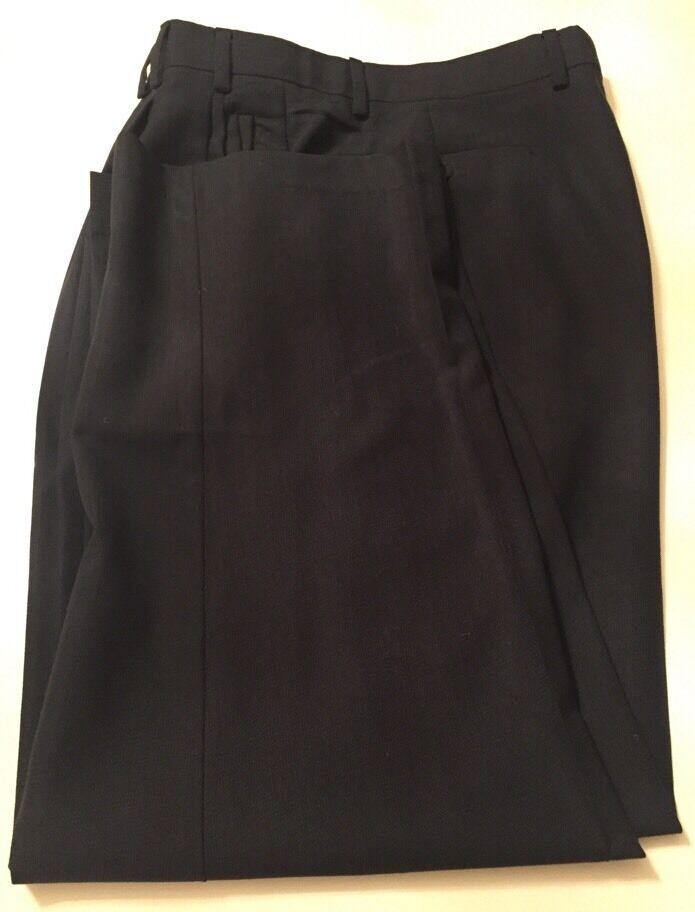 Zanella Jesse Mens bluee Pleated Dress Pants Size 36 36 X 28 Excellent