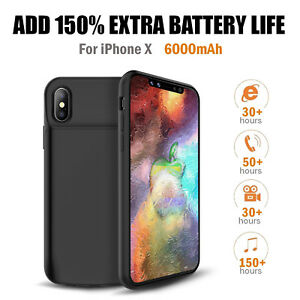 iPhone-X-8-7-6-5-Battery-Case-Protective-Charger-with-Lightning-in-out-Port