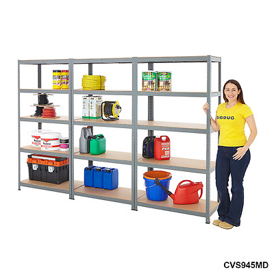 3 Garage Shelving Racking Boltless 5 Tier Units