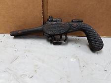 VINTAGE TOY CAST IRON THE AMERICAN BULLDOG BOOT JACK DOUBLE BARREL GUN PISTOL