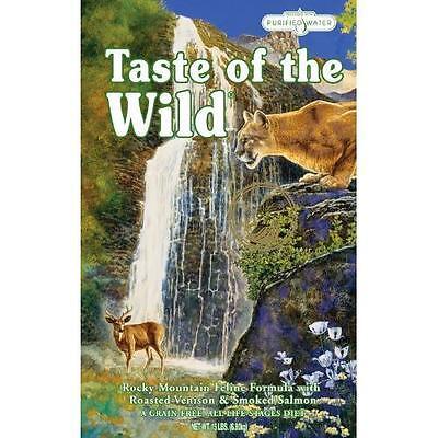 Taste of the Wild Dry Cat Food, Feline Formula w/Venison&Salmon, 15-LB