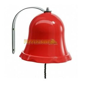 Red-Plastic-School-Bell-Cubby-House-Playground-Fort-Rock-Wall-Accessories-Ring