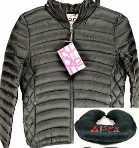 Turbine-Women-039-s-Down-Jacket-Packable-into-Travel-Pillow-Black