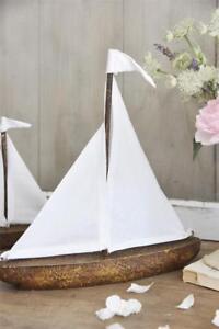 Jeanne-d-Arc-living-Holzboot-Boot-Segelschiff-Dekoration-Segelboot-Mangoholz