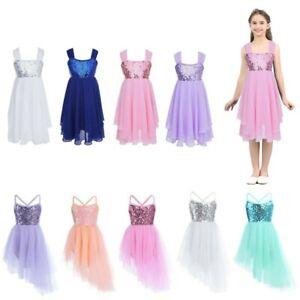 UK-Girls-Lyrical-Dance-Dress-Kid-Ballet-Latin-Ballroom-Sequins-Leotard-Dancewear