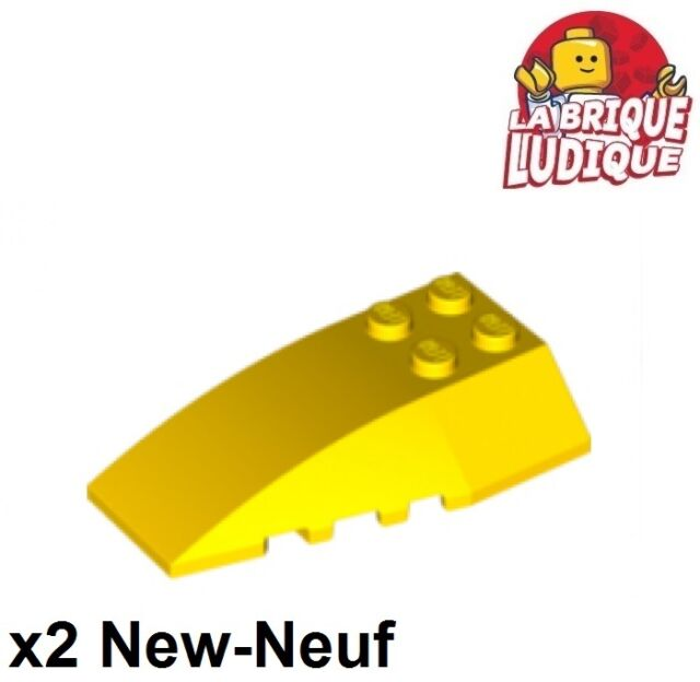 LEGO Lot of 4 Yellow 6x2 Curved Slope Pieces