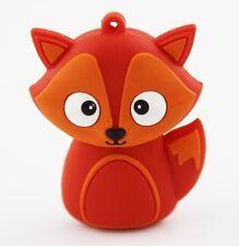 1pc 128GB Orange Fox Animal USB Flash Thumb Drive USA Shipper