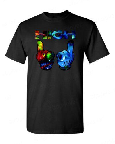 Haute Cosmic Space T-Shirt Drôle Marijuana Weed Stoner Pot Cannabis Nouveauté tee
