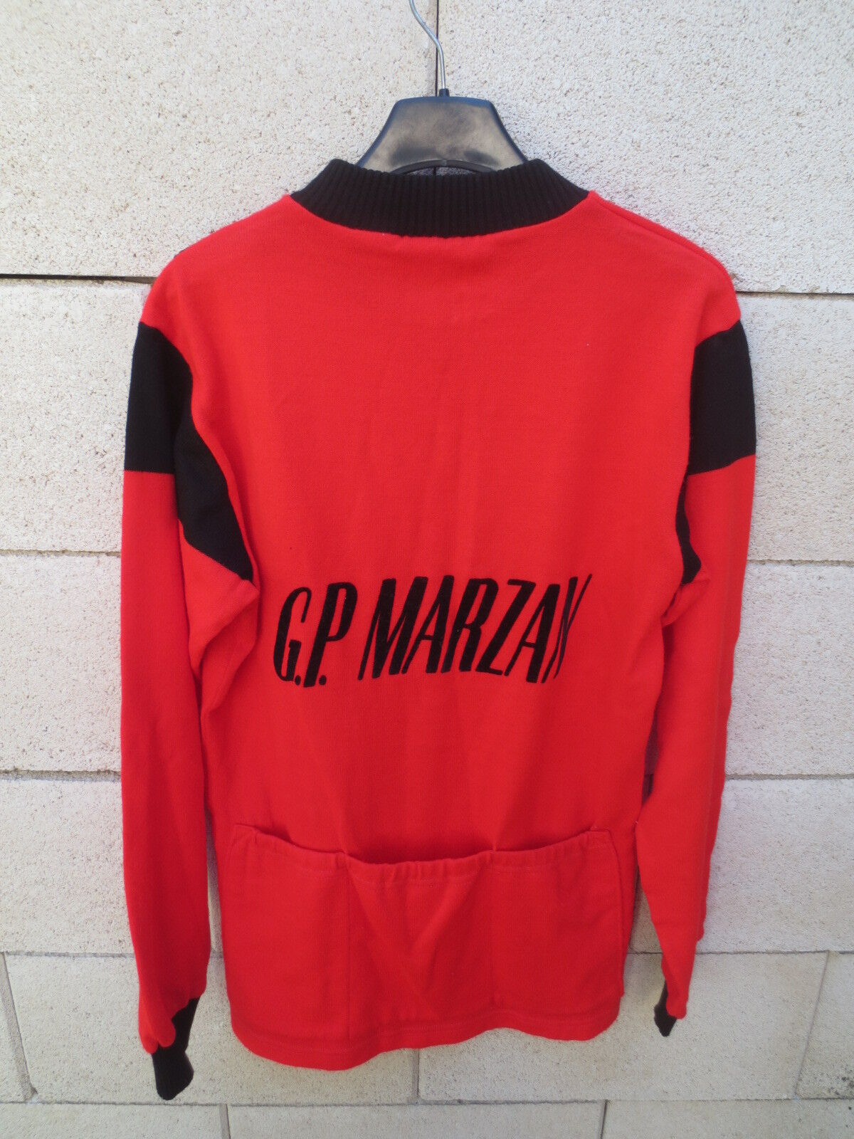 VINTAGE Maillot cycliste G.P MARZAN cycling jersey camiseta manches longues M
