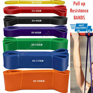 Strong Resistance Pull UP Bands Loop Heavy Duty Exercise Sport Fitness Gym Yoga*