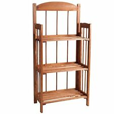3 Shelf Wooden Bookcase with Light Wood Finish 35 Inches High