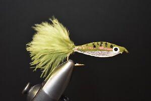 WHITE Epoxy Minnow Fly Fishing Flies Size 6 2 Flies