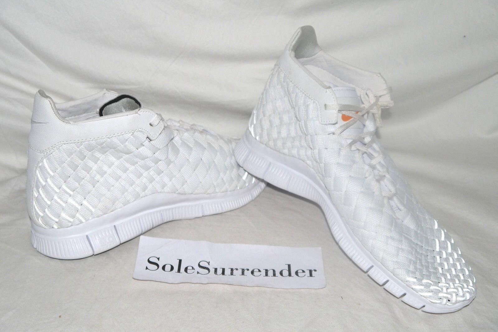 Nike Free Inneva Woven Mid SP - CHOOSE SIZE - 800907-110 Triple Whiteout Tech QS