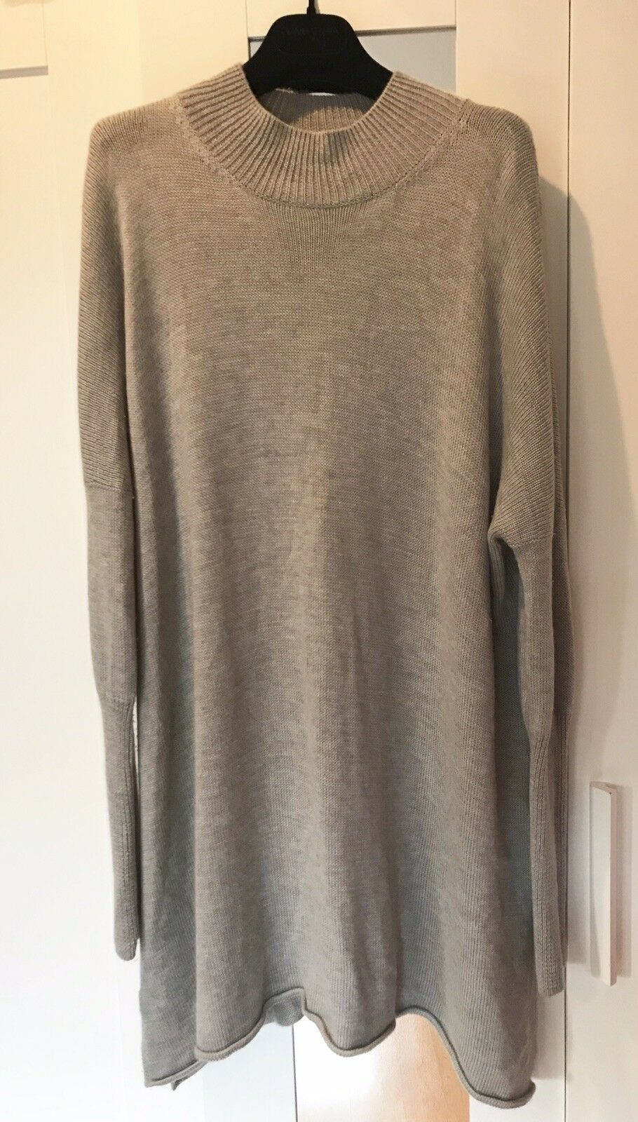 VINCE LUXURIOUS SILK CASHMERE OVERSIZED LONG KNIT SWEATER L