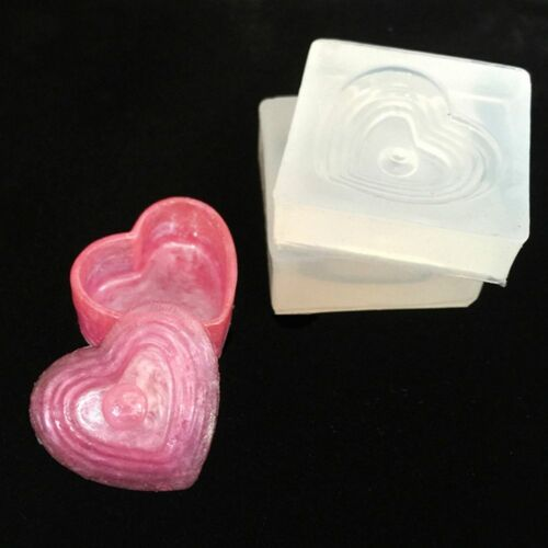 Mini DIY Resin Silicone Mold for Making Heart Shaped Jewelry Storage Box Mold