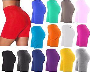 ... Nouveau-Dames-Femmes-Short-Coton-Sportscropped-Pantalon-Cyclisme- f3d0d6d264e