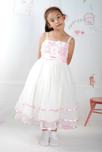Flower Girl Dress Party Dress Lilac Pink Red 3 4 5 6 7 Years