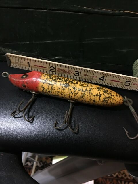 Vintage Heddon Vamp Musky Minnow Antique Fishing Lure
