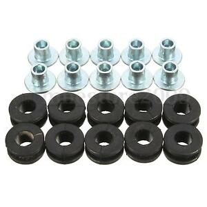 10pcs Motorcycle Rubber Grommets Bolt For Honda Yamaha