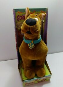 Vintage 1998 Cartoon Network Talking Scooby Doo Plush Stuffed Animal Friend Toy