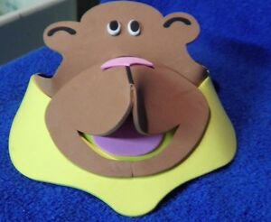 NEW-WITH-TAGS-MONKEY-HAT-VISOR-ONE-SIZE-FITS-MOST