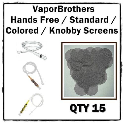 15 VaporBrothers Hands Free Standard Colored Knobby Screens STAINLESS