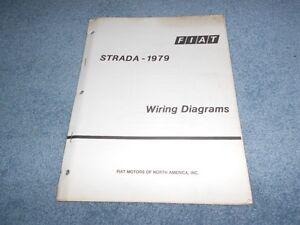 1979 fiat strada wiring diagrams technical training factory oem rh ebay co uk fiat palio electrical diagram pdf fiat palio weekend wiring diagram
