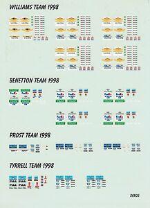 Williams Benetton Tyrrell Prost Decal 1:43 Figuren Mechaniker Team