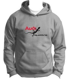 Nouvelle Audi Quattro Sweat à Capuche Hoody Sweat à Capuche Pull Pullover
