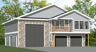 44x48 Apartment with 2-Car 1-RV Garage - PDF FloorPlan - 1,645 sqft - Model  5U | eBay