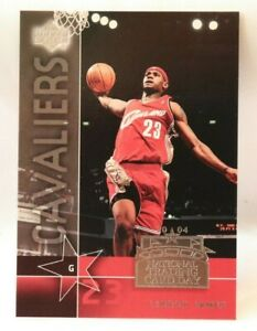Lebron James Rookie National Trading Day Ud 7 Trading Card Ebay
