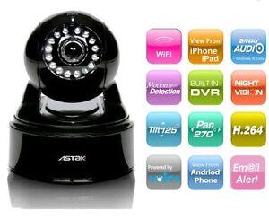 Astak Mole Wireless Wifi IP Security Camera - Audio, Night Vision ...