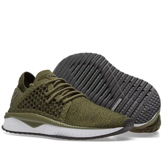 3adb6652eb5 PUMA Tsugi Netfit Evoknit Shoes - Olive Night white black Quarry Uk8 ...