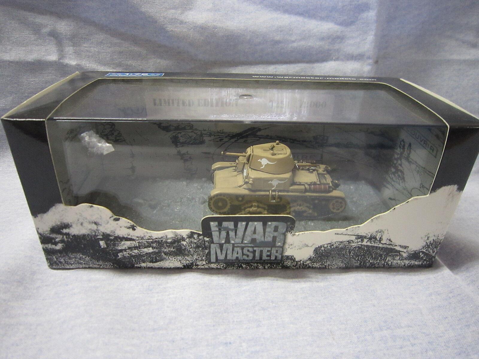 ZA008 WAR MASTER FIAT M13-40 ROYAL AUSTRALIA Libya 1942 1 72 TK0002 Ed Lim NB