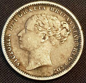 1838-1887-Victoria-Bun-head-ARGENT-SHILLINGS-tout-clair-dates-choisir-reel-coin