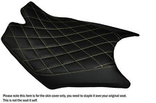 DIAMOND CREAM STITCH CUSTOM FITS KTM RC8  FRONT RIDER REAL LEATHER SEAT COVER