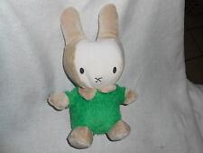 """puli tony toy int Plush Ivory Tan Green Bunny Rabbit 11"""" cream lovey baby"""