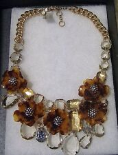 NWT AUTHENTIC J CREW TORTOISE FLOWER NECKLACE F6519, Reg $148, WOW! LOVELY!!